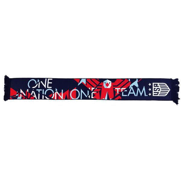U.S. SOCCER ONE NATION ONE TEAM EAGLE HD WOVEN SCARF - NAVY