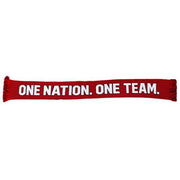 U.S. SOCCER USWNT SPLIT CREST ONE NATION. ONE TEAM. SCARF