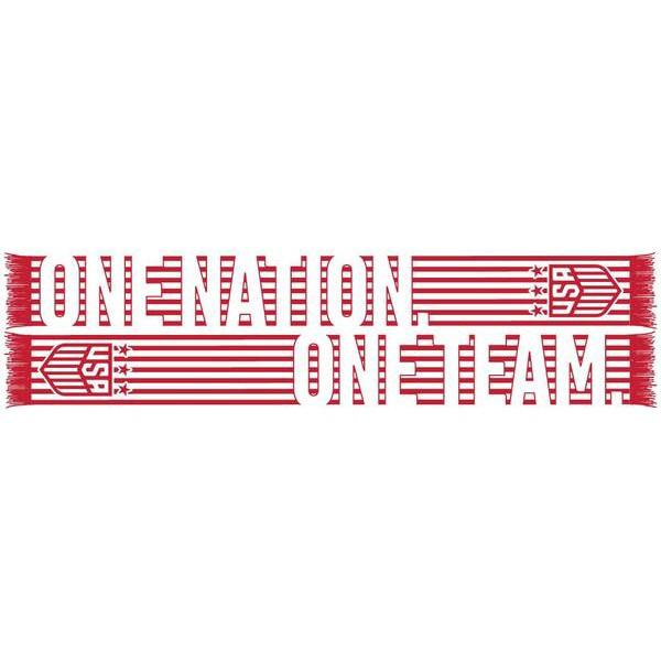 U.S. SOCCER ONE NATION ONE TEAM STRIPE SCARF - WHITE RED