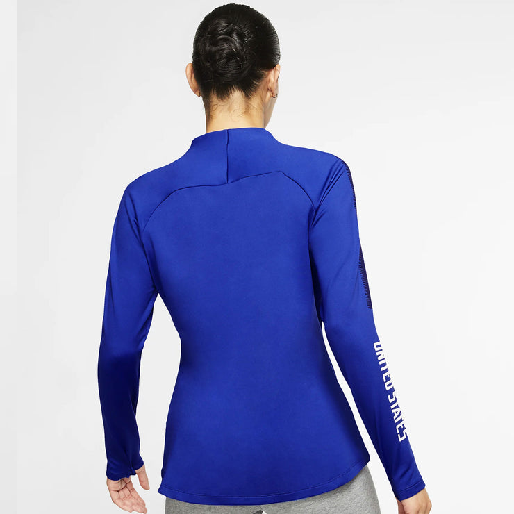 WOMENS NIKE SQUAD HALF ZIP TOP - BLUE