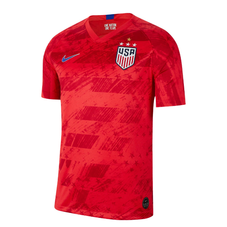 MEN'S NIKE USA WNT BREATHE 4-STAR STADIUM HOME JERSEY - RED