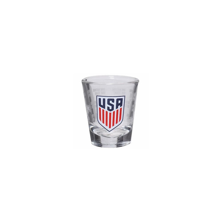U.S. SOCCER 2OZ SATIN ETCH SHOT GLASS