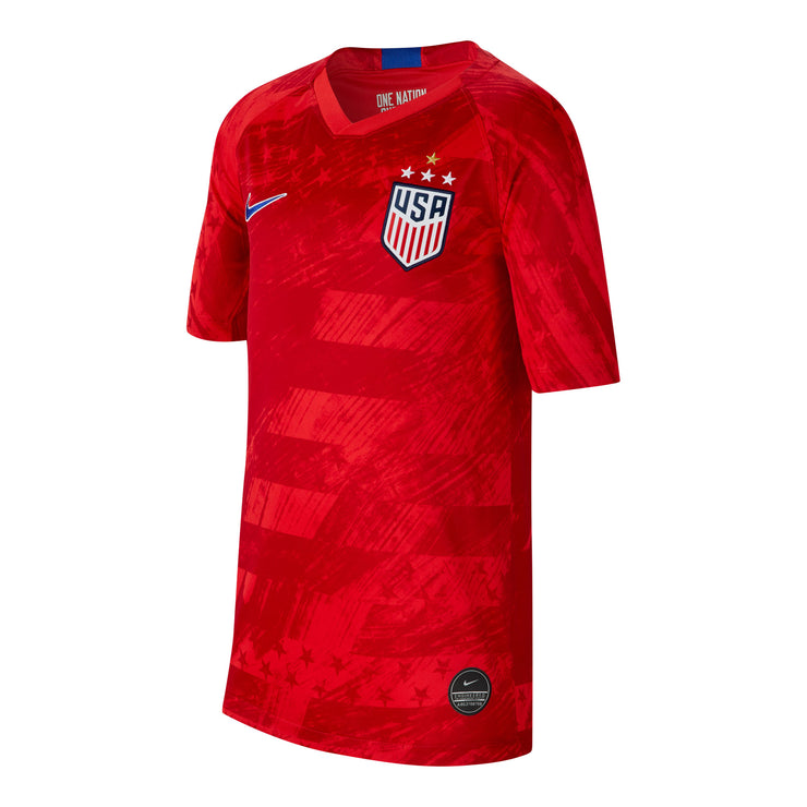 YOUTH NIKE USA WNT BREATHE 4-STAR STADIUM HOME JERSEY - RED