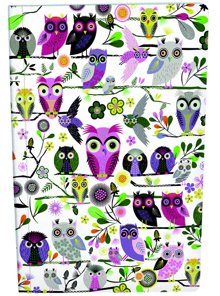 Roger la Borde Elegant Owls Exercise Book A4 featuring artwork by Roger la Borde