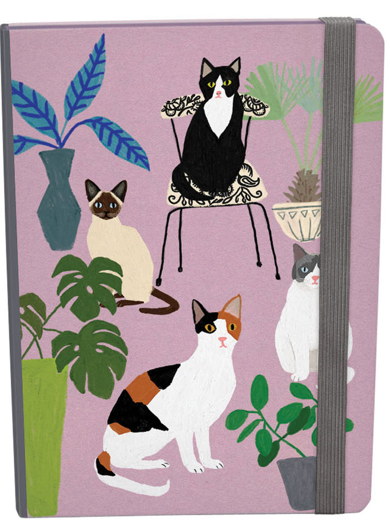 Roger la Borde Cat and Dog Palais A5 Journal with elastic featuring artwork by Anne Bentley