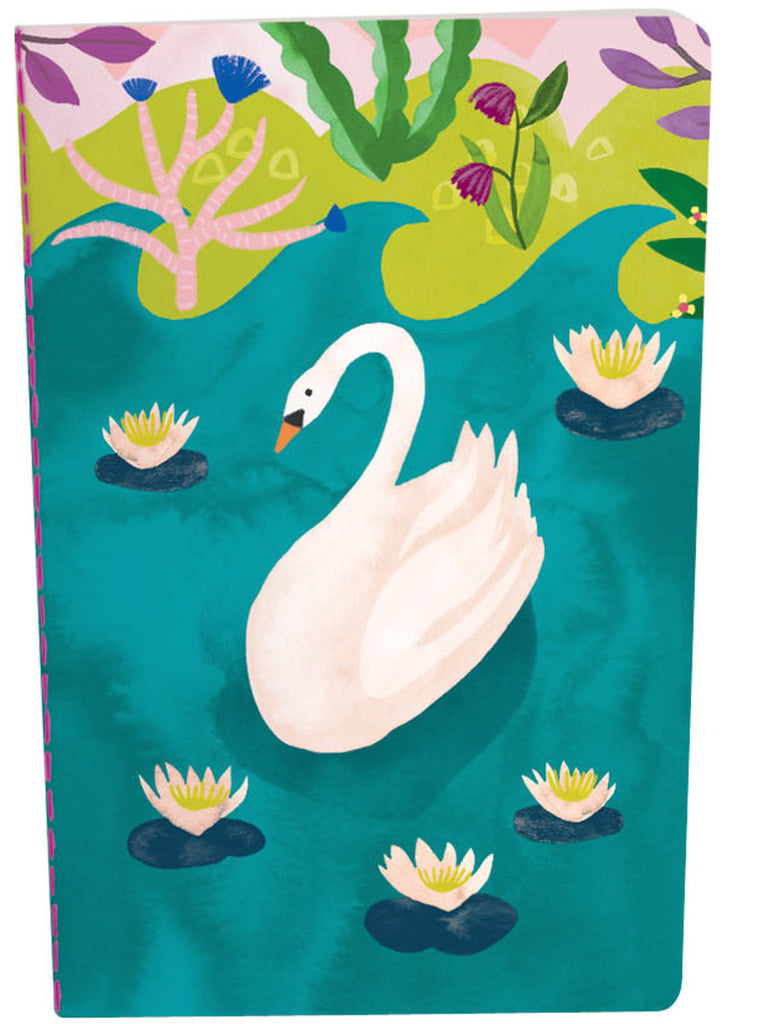 Roger la Borde Swans A5 Exercise Book featuring artwork by Katie Vernon