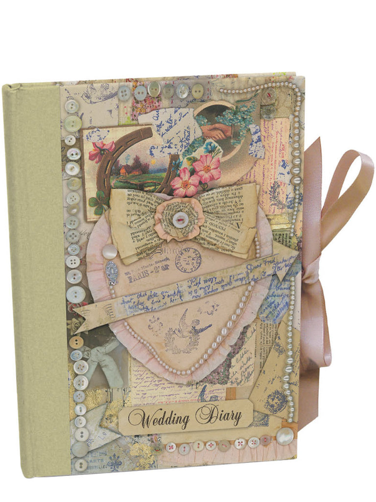 Roger la Borde Vintage Wedding Cased Illustrated Book featuring artwork by Jessie Chorley