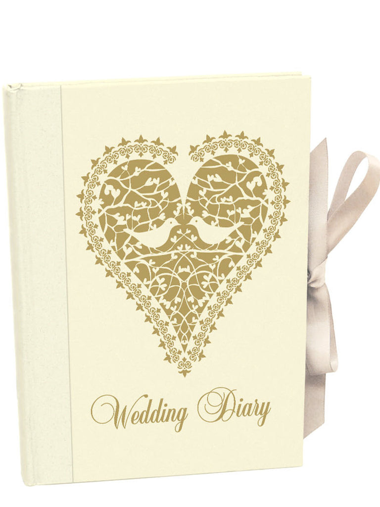 Roger la Borde Wedding Heart Vine Illustrated Wedding Planner featuring artwork by Roger la Borde