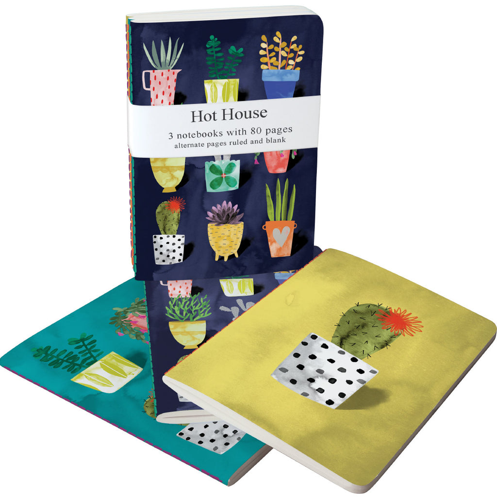 Roger la Borde Hot House A6 Exercise Books Bundle featuring artwork by Katie Vernon