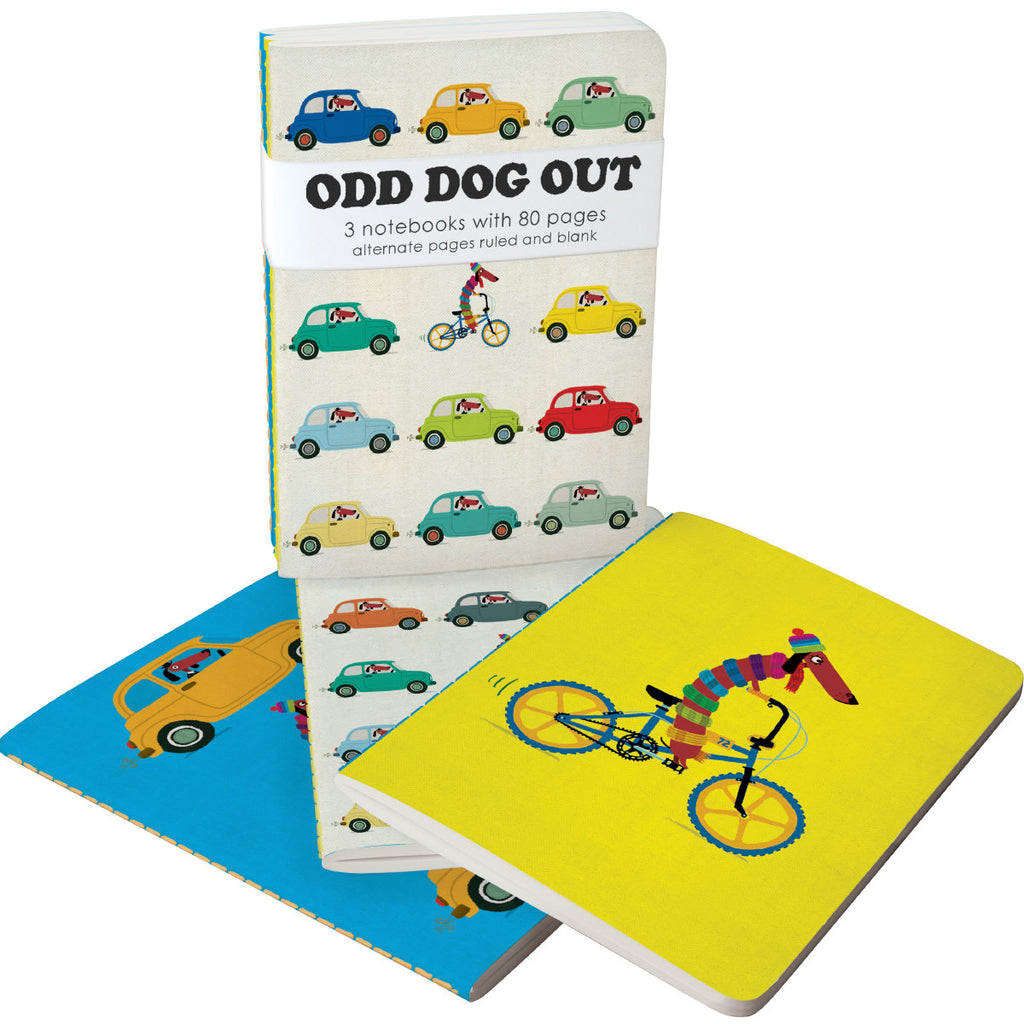 Roger la Borde Odd Dog Out A6 Exercise Books Bundle featuring artwork by Rob Biddulph