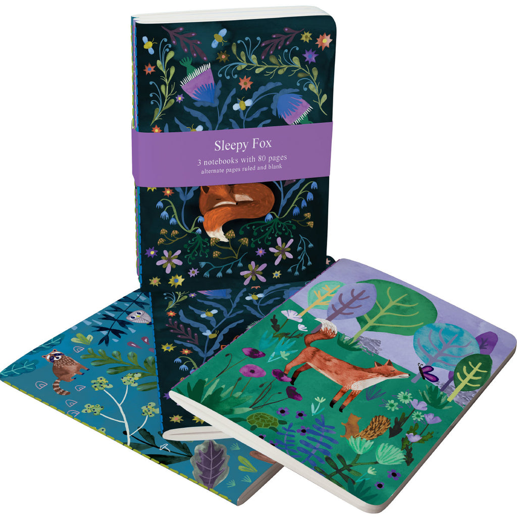 Roger la Borde Sleepy Fox A6 Exercise Books Bundle featuring artwork by Katie Vernon