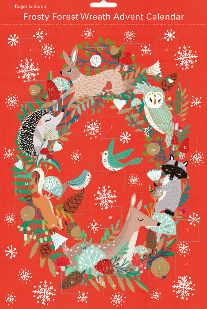 Roger la Borde Frosty Forest Advent Calendar featuring artwork by Antoana Oreski