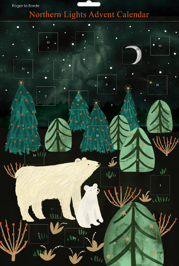 Roger la Borde Northern Lights Advent Calendar featuring artwork by Katie Vernon