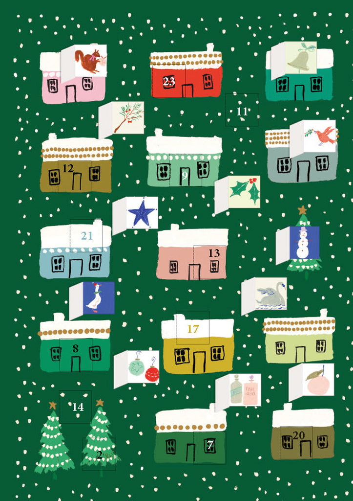 Roger la Borde Little House Advent Calendar Card featuring artwork by Emily Isabella
