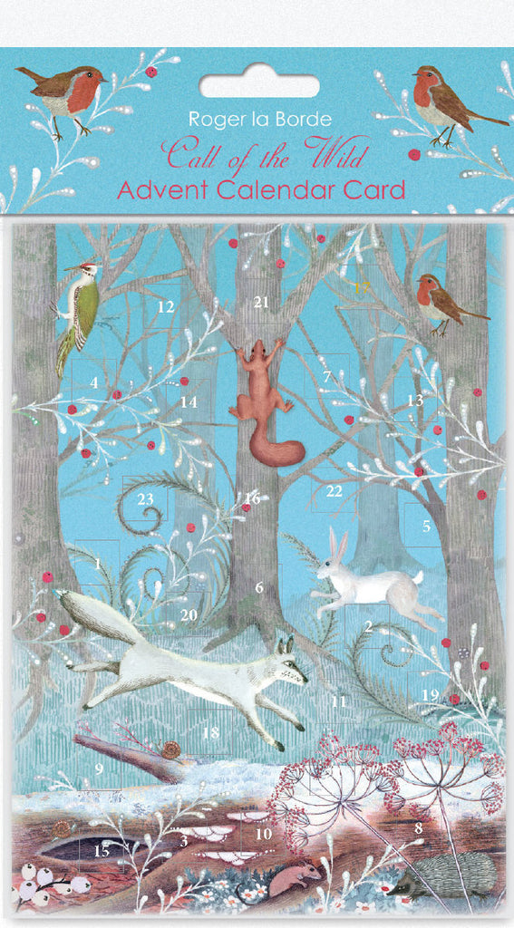 Roger la Borde Call of the Wild Advent Calendar Card featuring artwork by Jane Ray