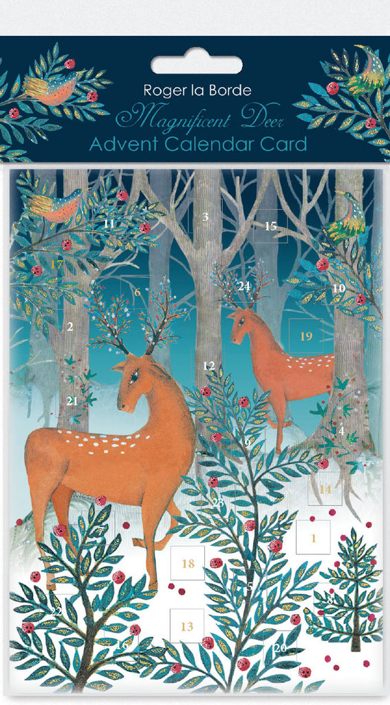 Roger la Borde Christmas Icons Advent Calendar Card featuring artwork by Jane Ray