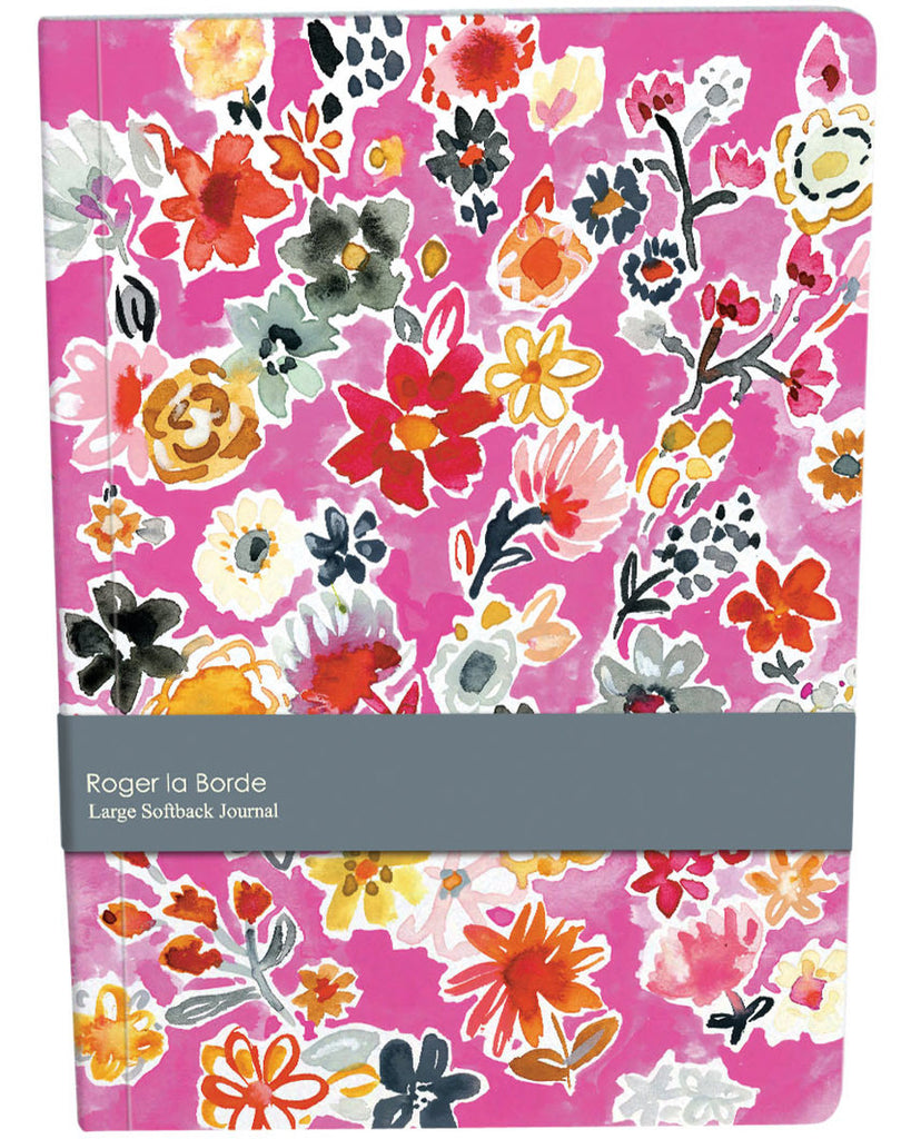 Roger la Borde Wild Batik Large Softback Journal featuring artwork by Jennifer Orkin Lewis