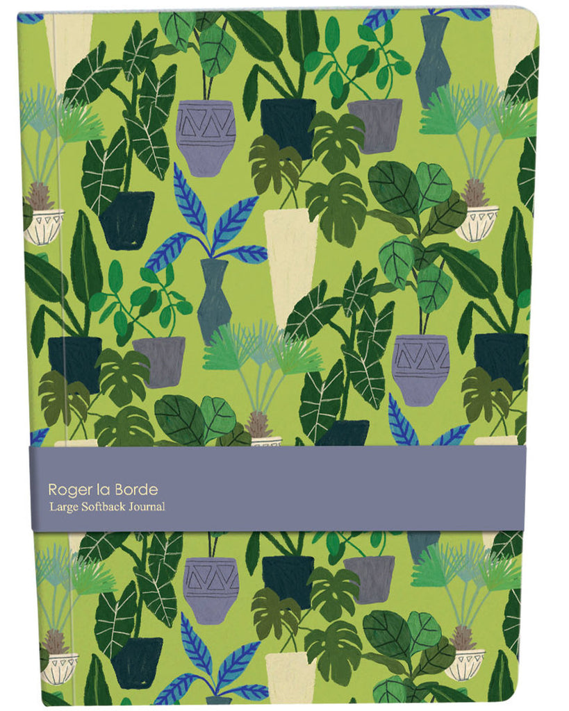 Roger la Borde Jungle Interior Large Softback Journal featuring artwork by Anne Bentley