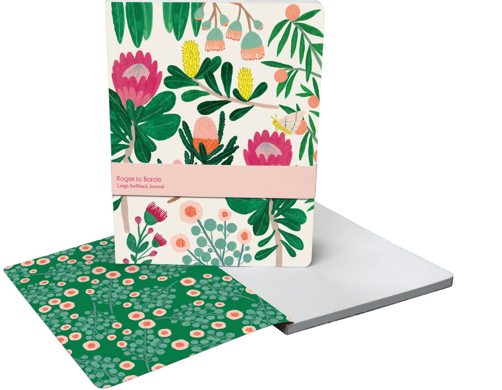 Roger la Borde King Protea Large Softback Journal featuring artwork by Kate Pugsley