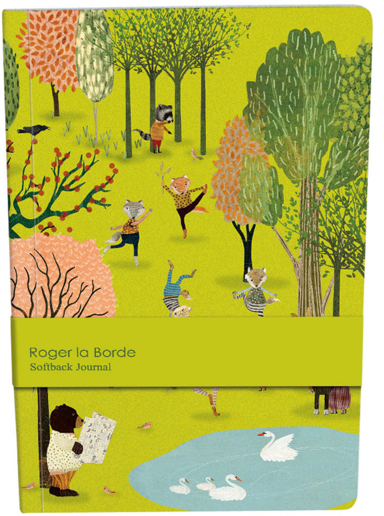 Roger la Borde Yoga in the Park A5 Softback Journal featuring artwork by Katherine Quinn