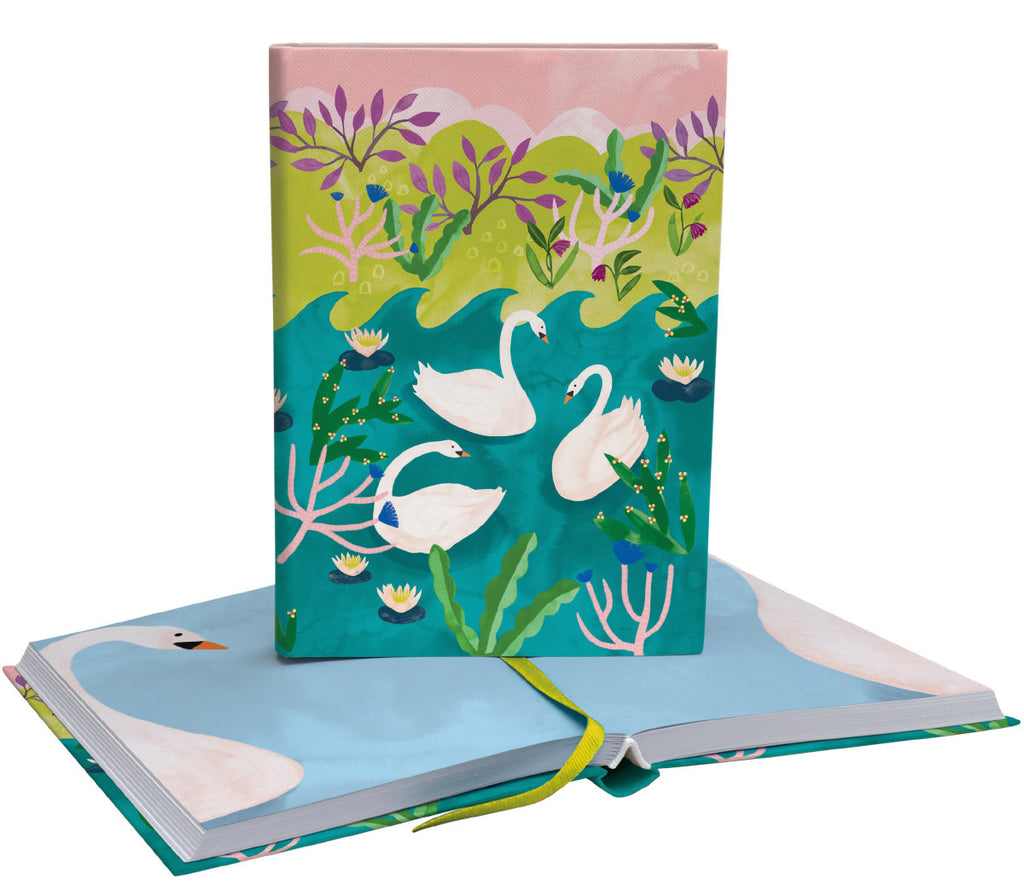 Roger la Borde Swans Softback Journal featuring artwork by Katie Vernon
