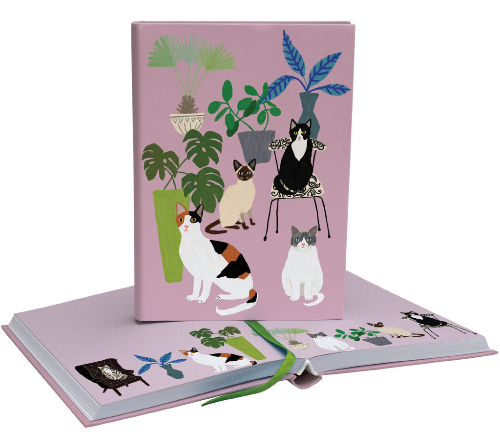 Roger la Borde Cat and Dog Palais Softback Journal featuring artwork by Anne Bentley