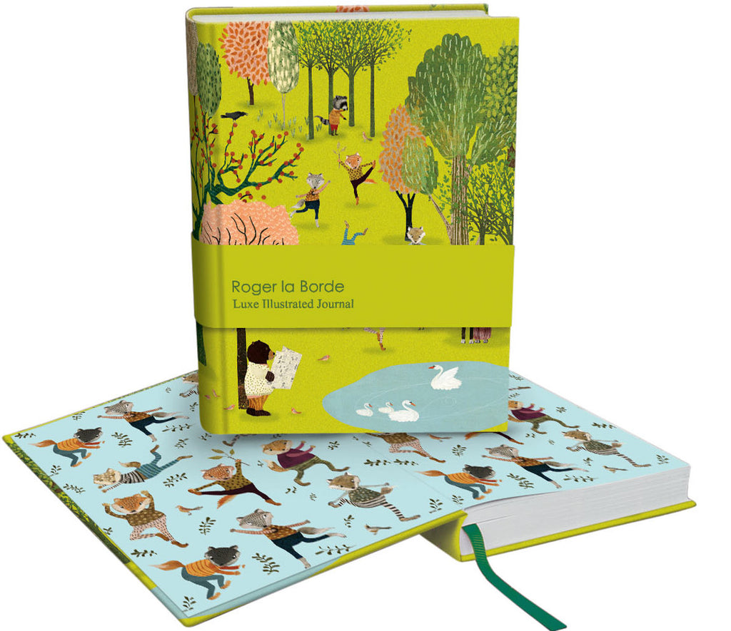 Roger la Borde Yoga in the Park Softback Journal featuring artwork by Katherine Quinn