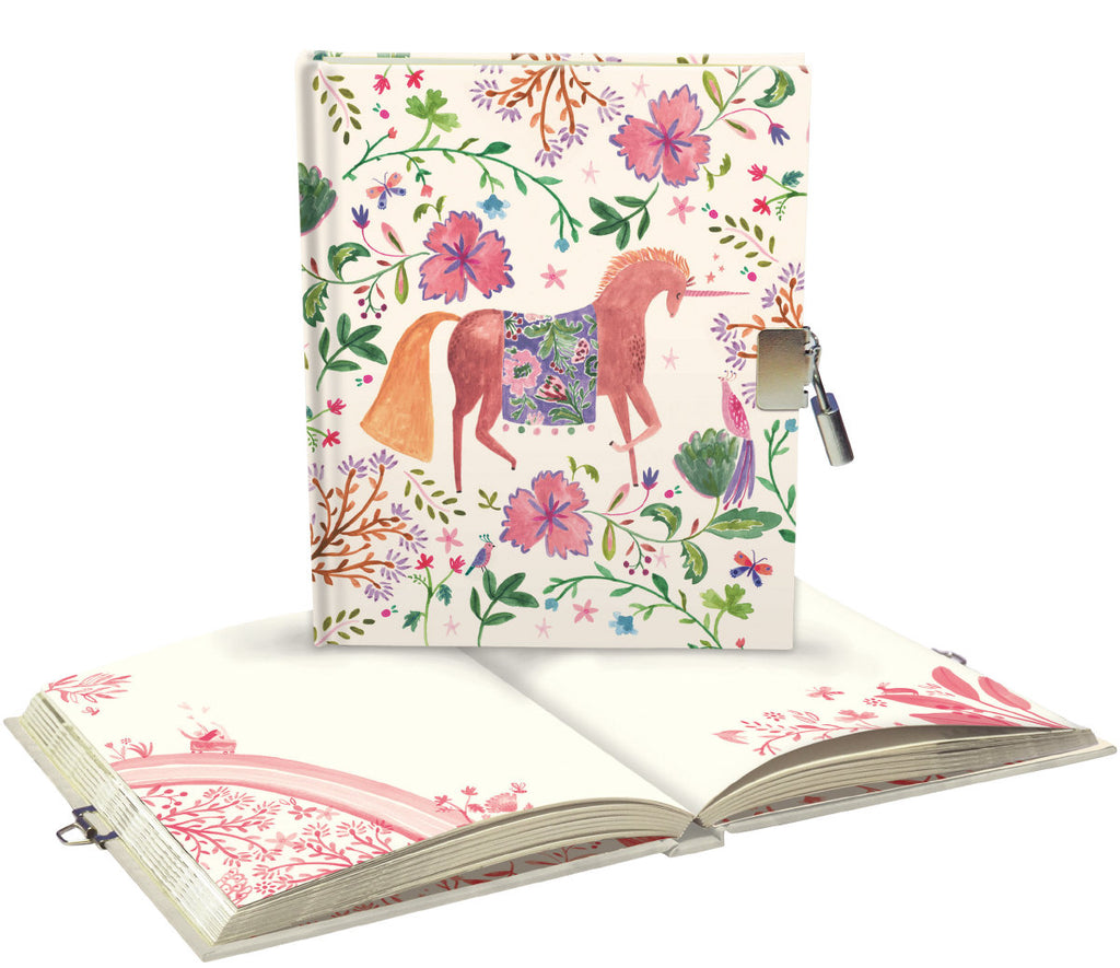 Roger la Borde Over the Rainbow Lockable Notebook featuring artwork by Rosie Harbottle