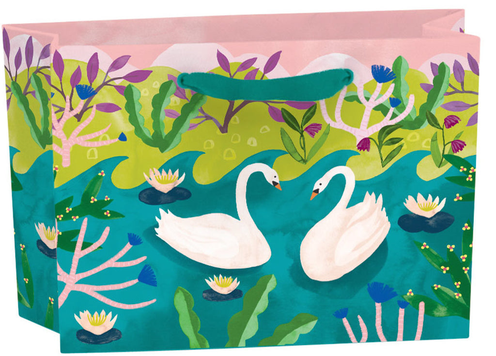 Roger la Borde Swans Gift Bag featuring artwork by Katie Vernon