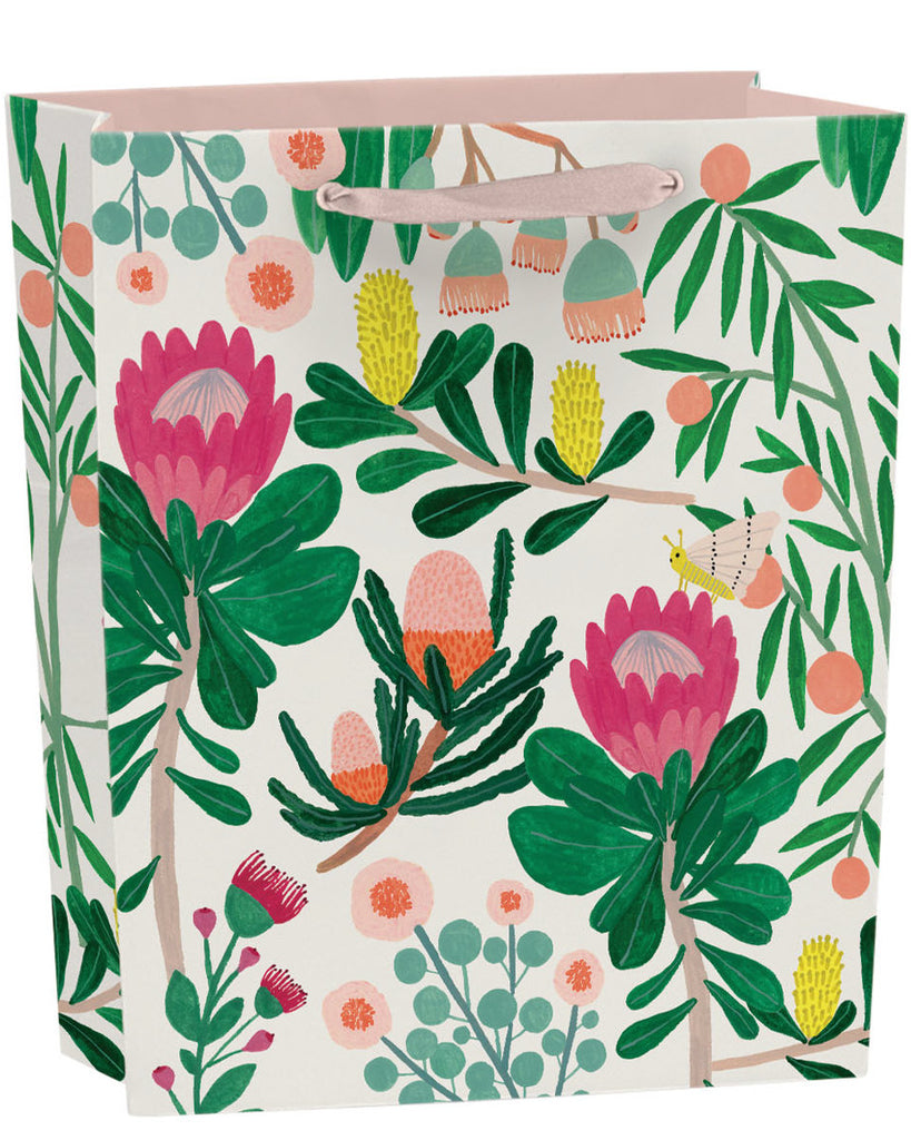 Roger la Borde King Protea Gift Bag featuring artwork by Kate Pugsley