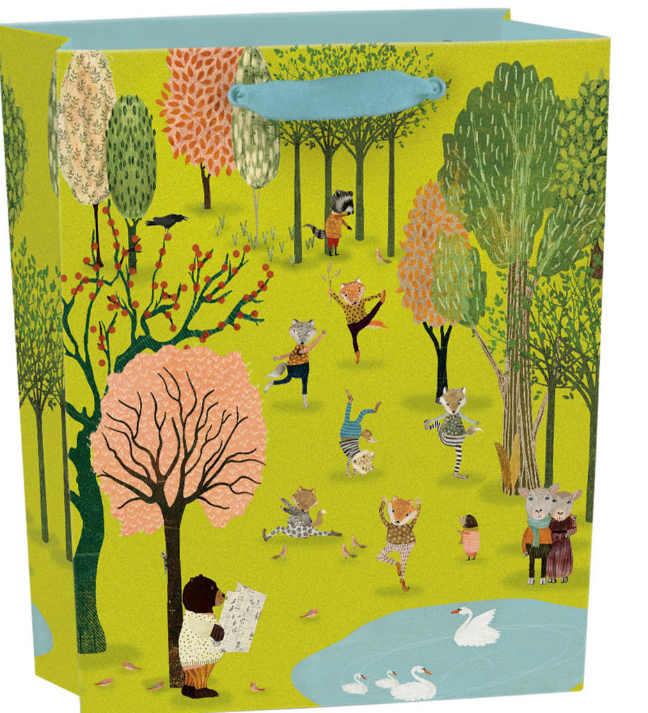 Roger la Borde Yoga in the Park Gift Bag featuring artwork by Katherine Quinn