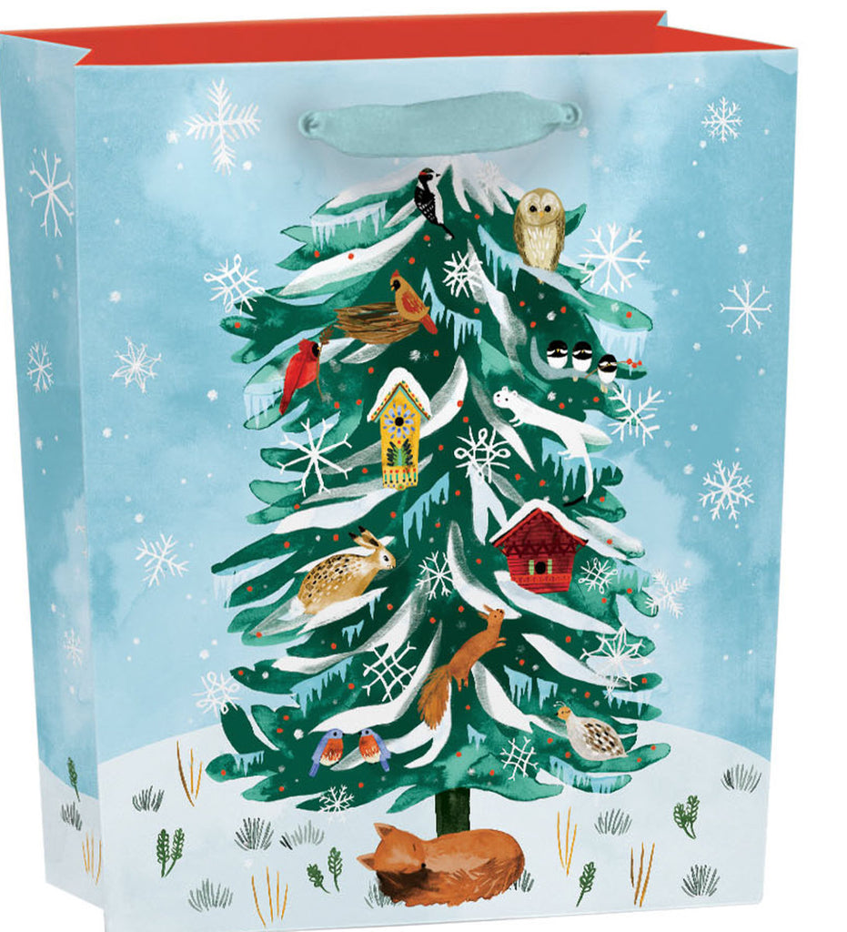 Roger la Borde Christmas Conifer Gift Bag featuring artwork by Katie Vernon