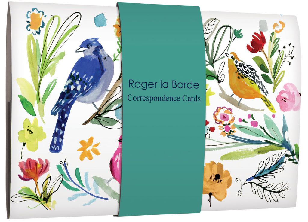 Roger la Borde Wild Batik Correspondence Cards Wallet featuring artwork by Jennifer Orkin Lewis