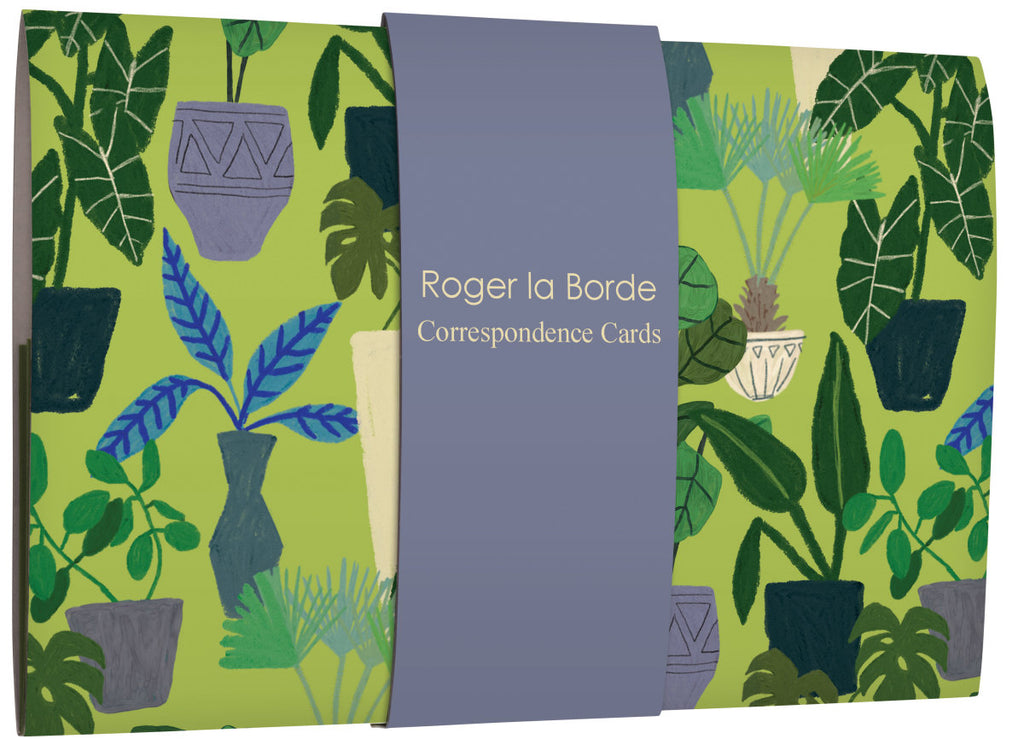 Roger la Borde Jungle Interior Correspondence Cards Wallet featuring artwork by Anne Bentley