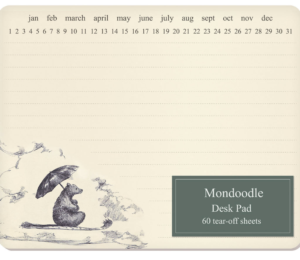 Roger la Borde Mondoodle Desk Pad featuring artwork by Elise Hurst