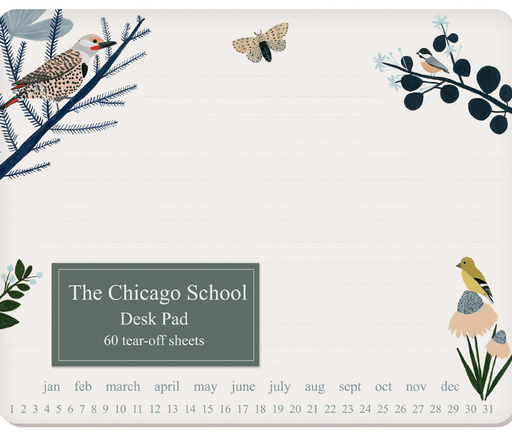 Roger la Borde Chicago School Desk Pad featuring artwork by Kate Pugsley