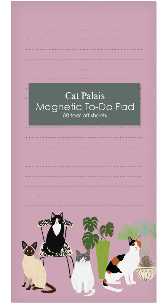 Roger la Borde Cat and Dog Palais Magnet Notepad featuring artwork by Anne Bentley