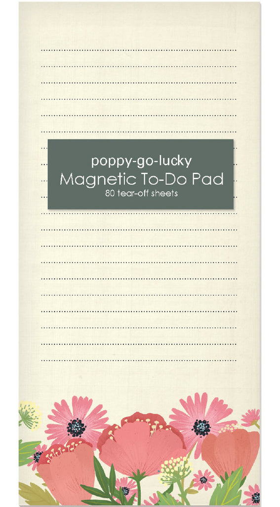 Roger la Borde Poppy go Lucky Magnet Notepad featuring artwork by Antoana Oreski