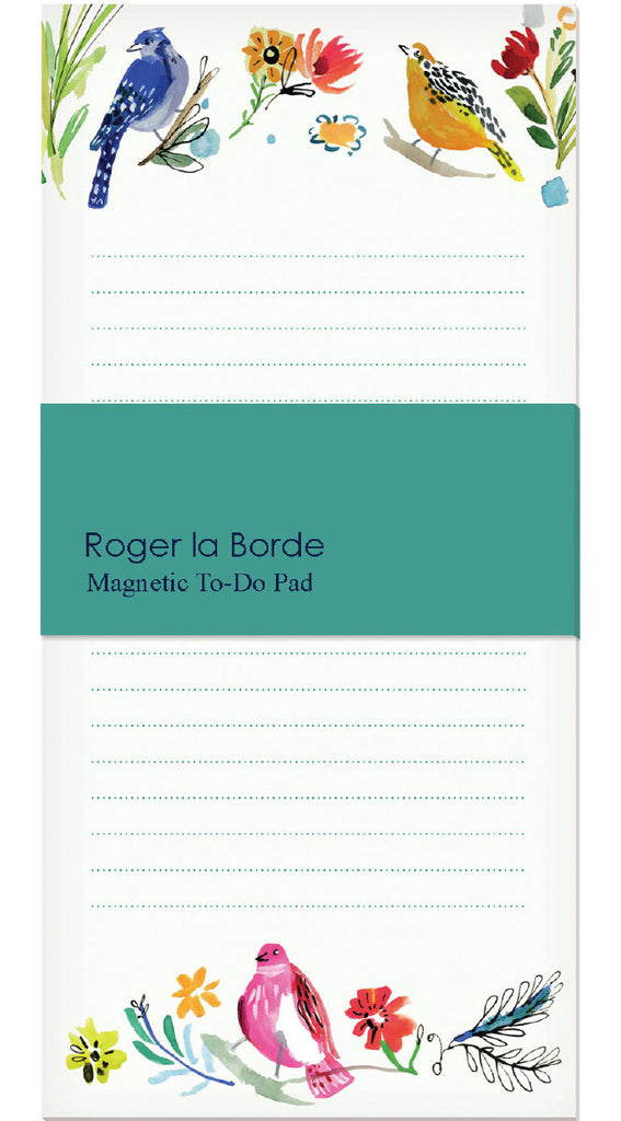 Roger la Borde Wild Batik Magnet Notepad featuring artwork by Jennifer Orkin Lewis