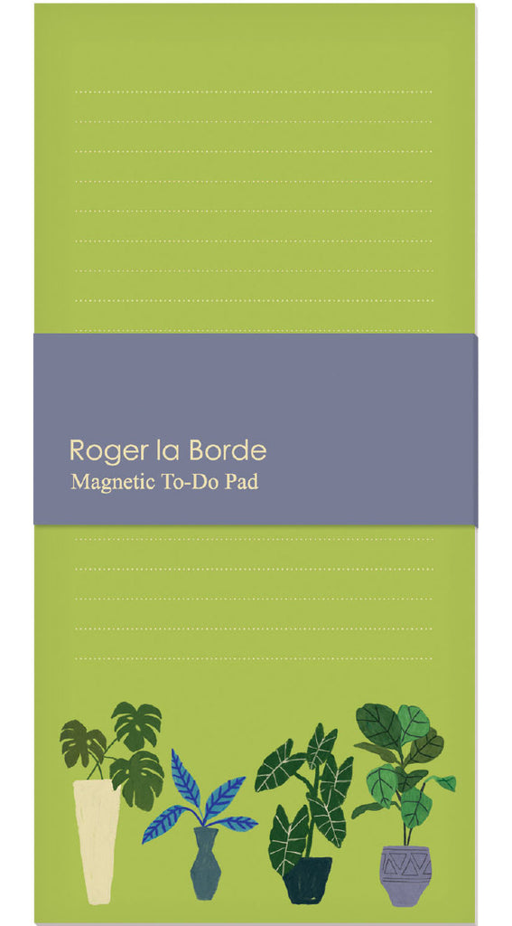Roger la Borde Jungle Interior Magnet Notepad featuring artwork by Anne Bentley