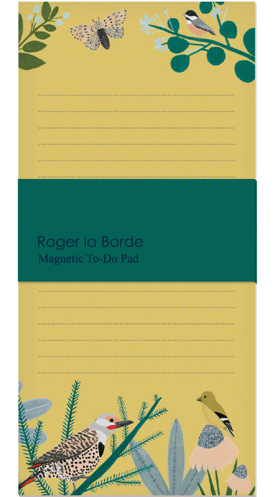 Roger la Borde Chicago School Magnet Notepad featuring artwork by Kate Pugsley