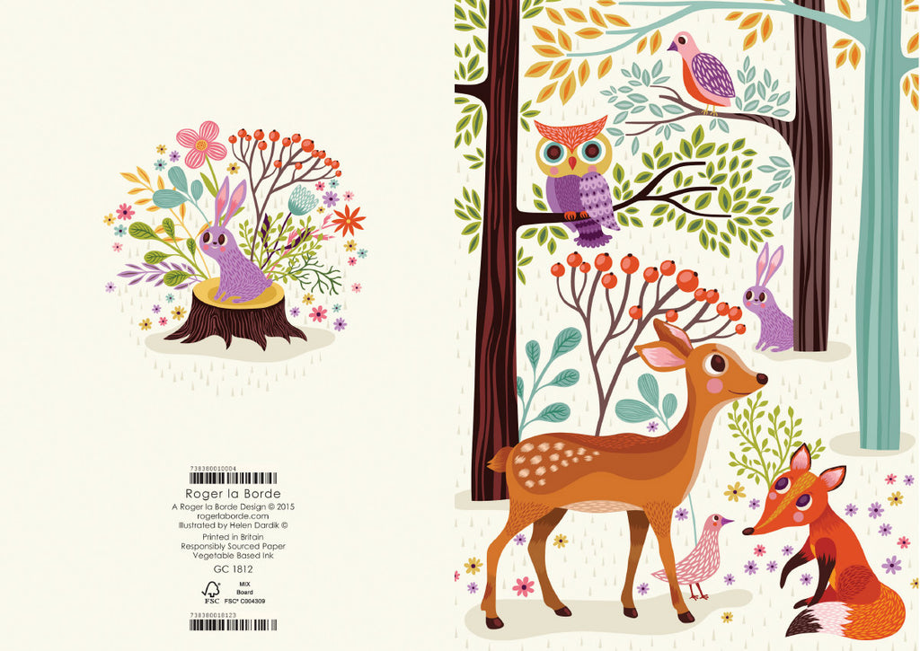 Roger la Borde Enchanting Forest Greeting Card featuring artwork by Helen Dardik