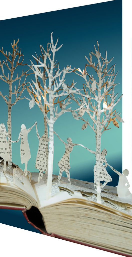 Roger la Borde Scissors Paper Tree Lasercut Card featuring artwork by Su Blackwell