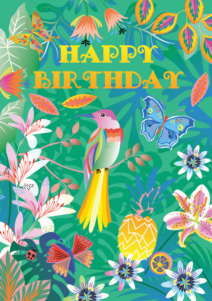 Roger la Borde Tropical Greeting Card featuring artwork by Roger la Borde