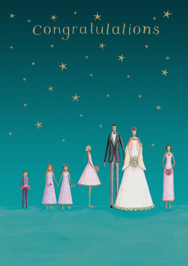Roger la Borde Wedding Dress Parade Greeting Card featuring artwork by Mary Claire Smith