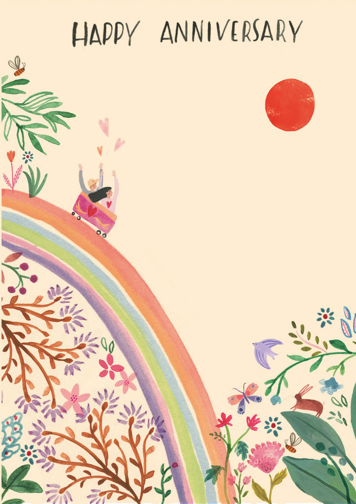 Roger la Borde Over the Rainbow Greeting Card featuring artwork by Rosie Harbottle