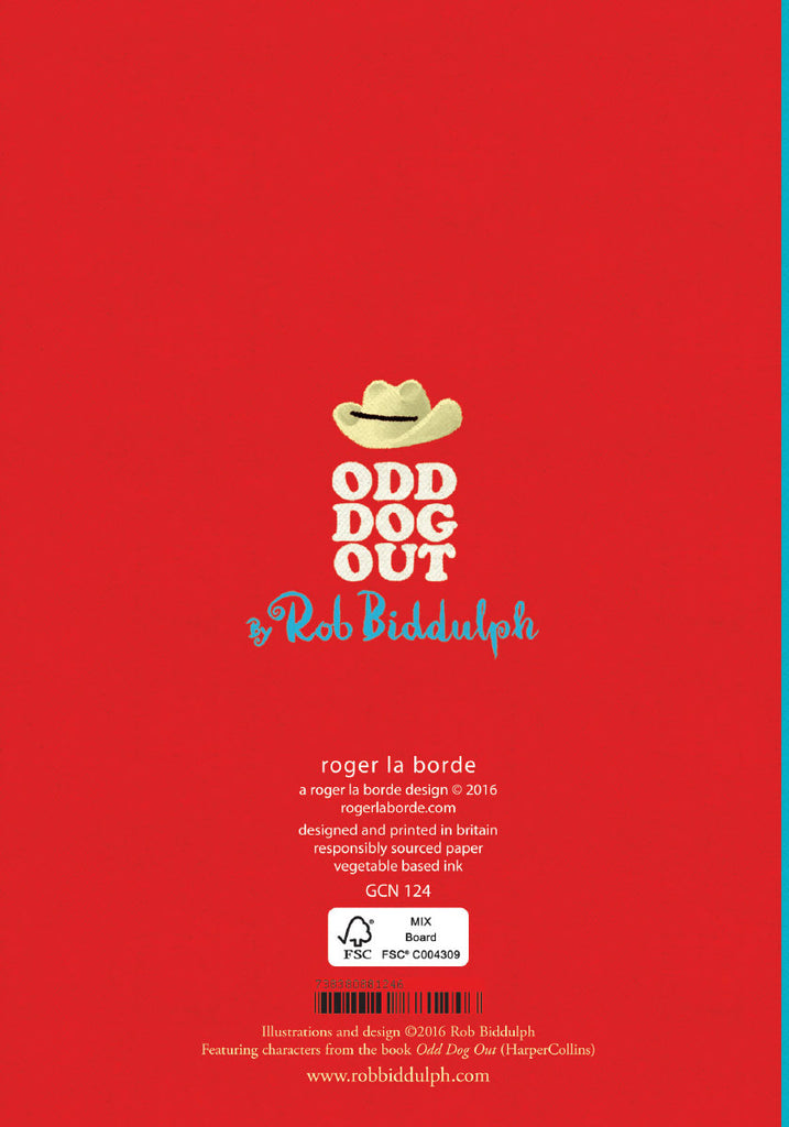Roger la Borde Odd Dog Out Petite Card featuring artwork by Rob Biddulph
