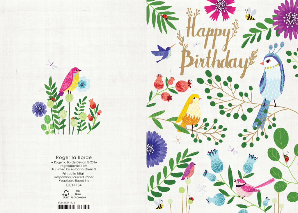Roger la Borde Summer Forrest Petite Card featuring artwork by Antoana Oreski
