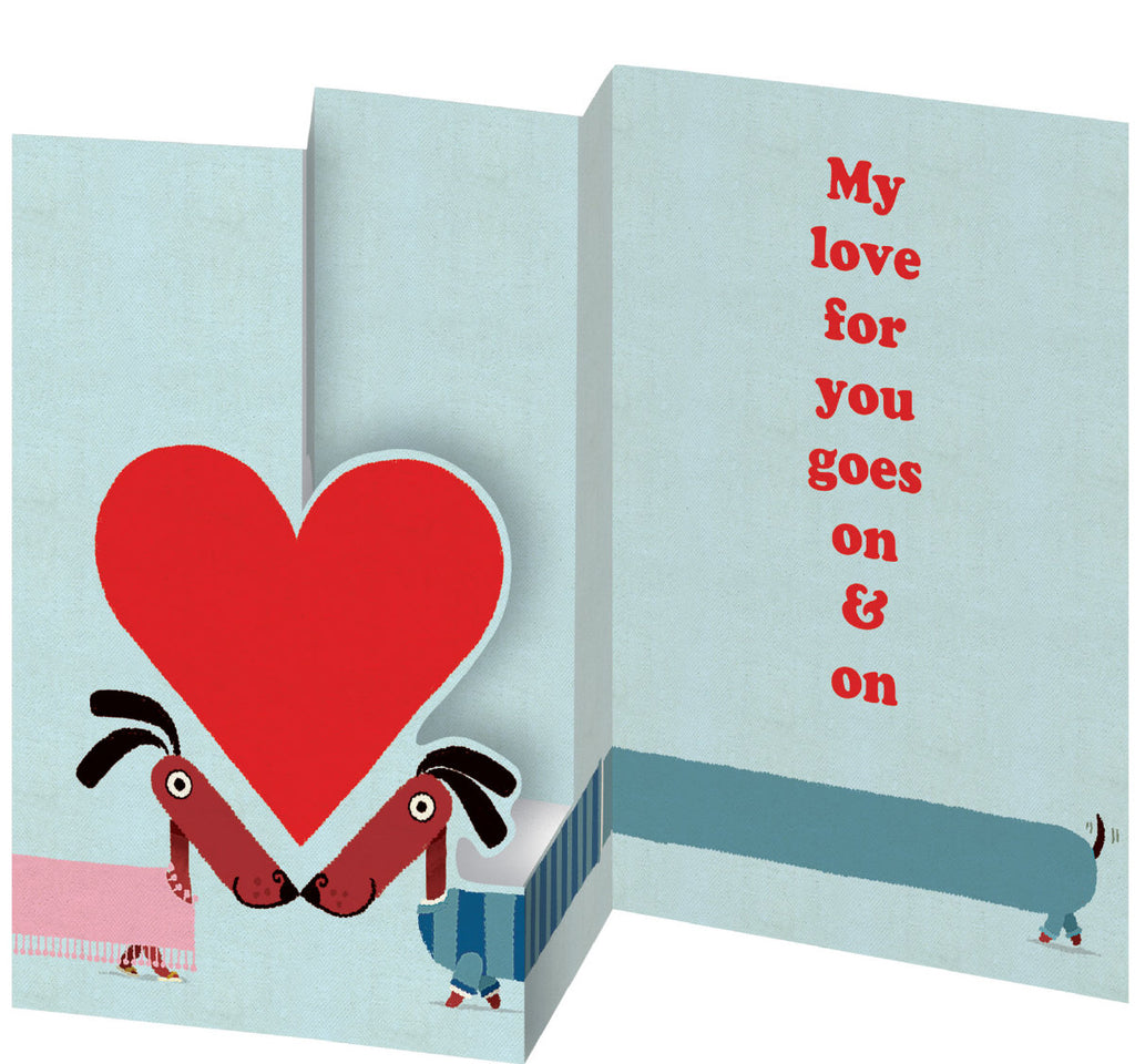 Roger la Borde Odd Dog Out Petite Lasercut Card featuring artwork by Rob Biddulph