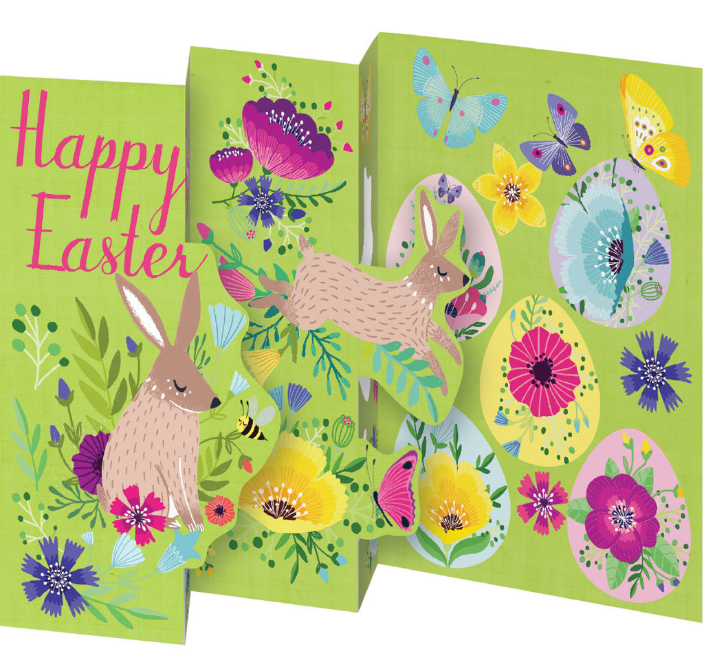 Roger la Borde Easter Petite Lasercut Card featuring artwork by Antoana Oreski